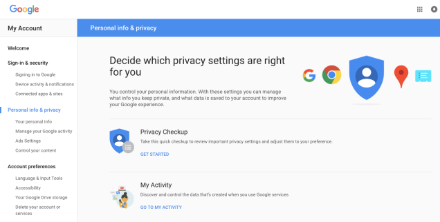 google-privacy-setting